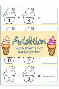Ice Cream Addition Worksheets for Kindergarten that your kids are sure to enjoy.