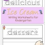 Enjoy these Ice cream writing worksheets for kindergarten.