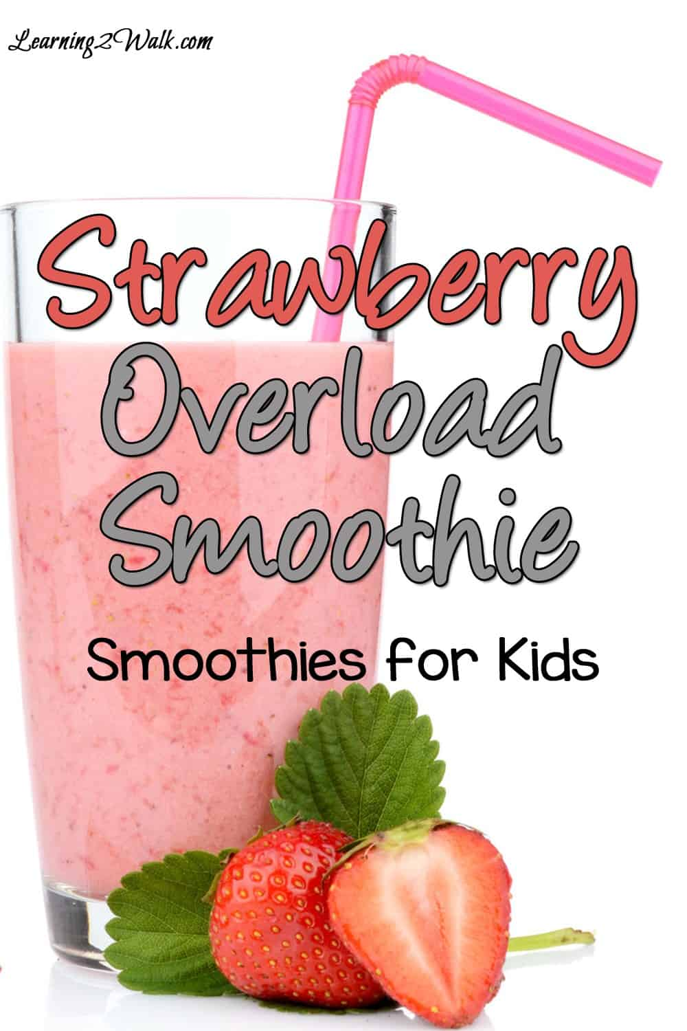 If your kids are anything like mine, you need to find creative ways to get your kids to eat fruits and vegetables. If you are looking for a few smoothies for kids, try this strawberry overload smoothie.