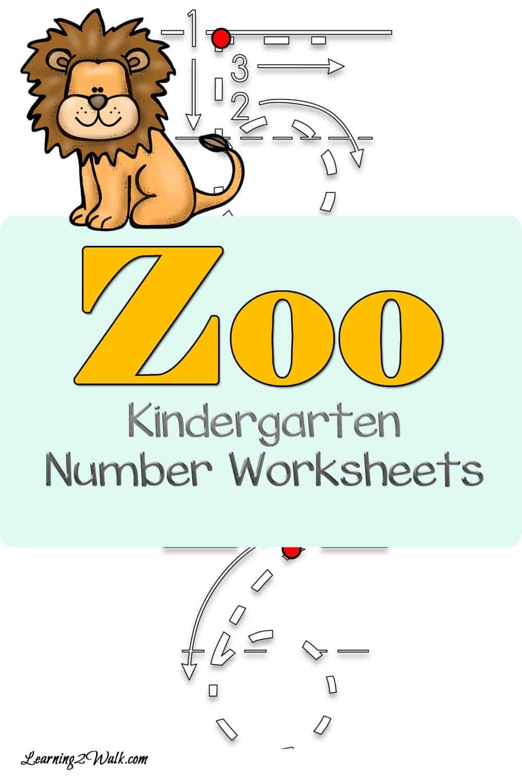 Enjoy these Zoo Kindergarten Number Worksheets!