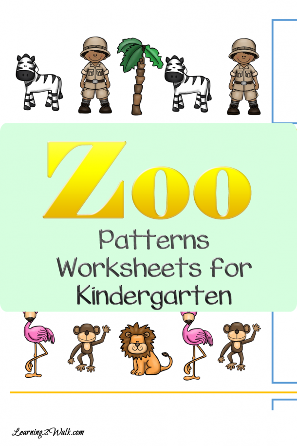 Flamingos and lions, monkeys and zebras- hhow many zoo animals do you know? Use these zoo patterns worksheets for kindergarten to work on those patterning skills.