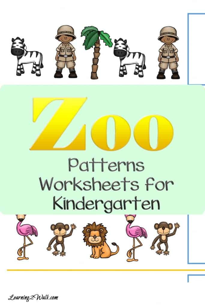 Flamingos and lions, monkeys and zebras- how many zoo animals do you know? Use these zoo patterns worksheets for kindergarten to work on those patterning skills.