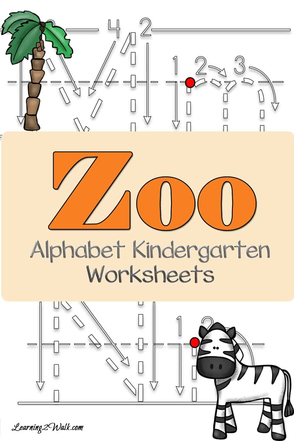 Working on writing the letters of the alphabet? Why not use these zoo alphabet kindergarten worksheets to help?