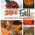 Looking for some ideas for fall activities for preschoolers? Try some from this list