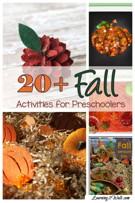 20+ Fall Activities for Preschoolers