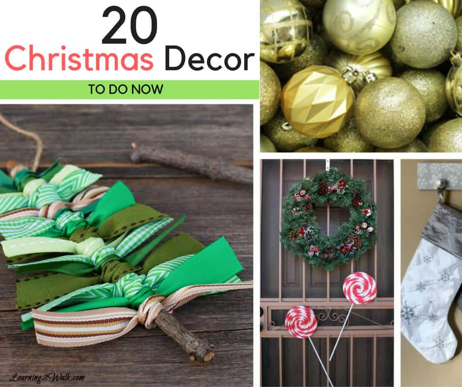 Okay, I love looking at all the DIY christmas decor on Pinterest. I love how easy they seem as well as rustic and don't get me started on the dollar store ones! Here are 20 Christmas decor to make now!