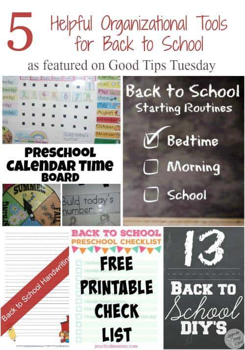 Good Tips Tuesdays: 5 Helpful Organizational Tools for Back to School