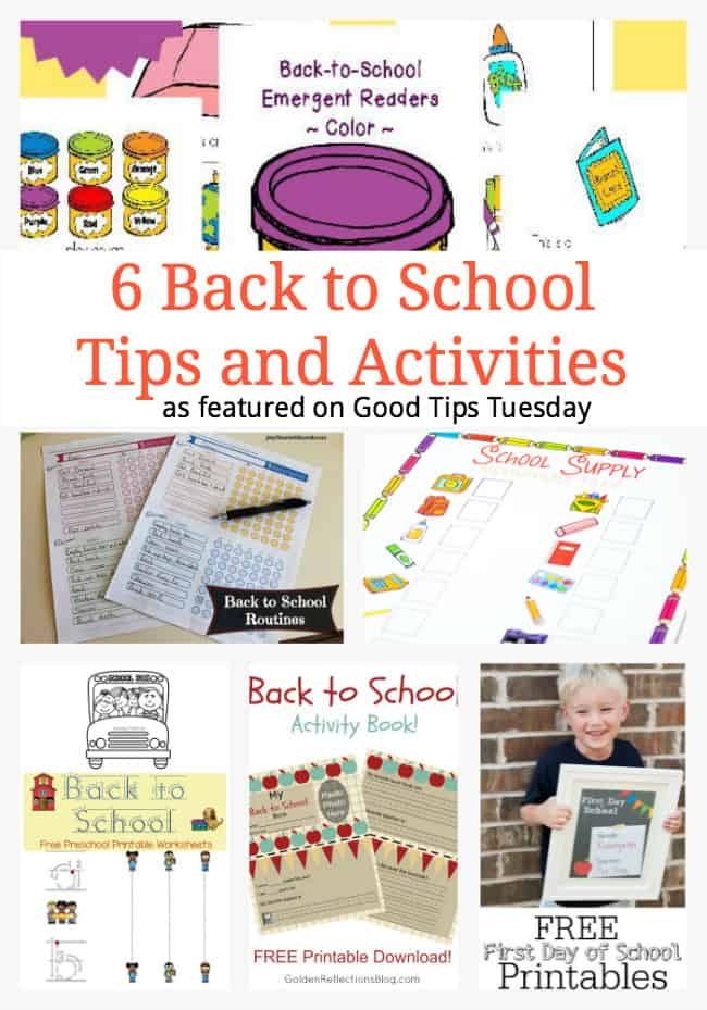 6 Back to School Tips and Activities