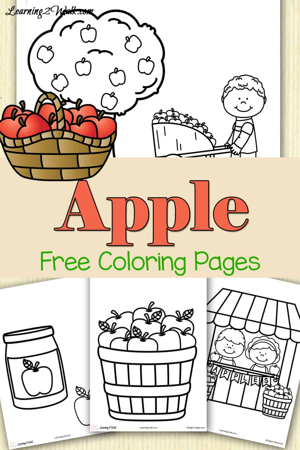 Apple Free Coloring Pages