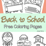 Enjoy these back to school free coloring pages to help your kids transition to their new school year.