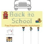 With back to school season coming up, why not use these free preschool printable worksheets to start the new year right?