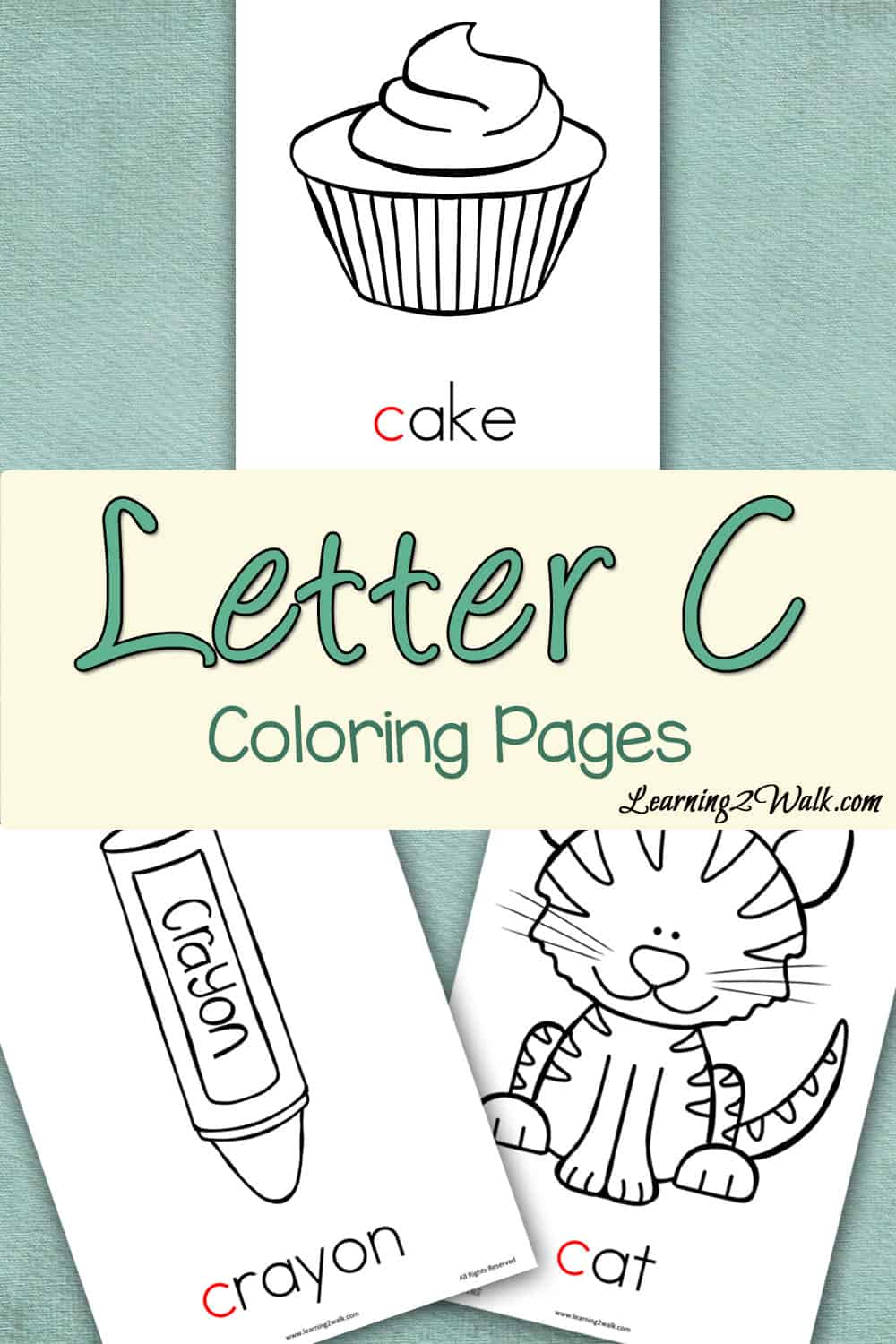 Working on the letter c with your preschooler and want some fun preschool letter activities to help? Try these free letter c coloring pages.