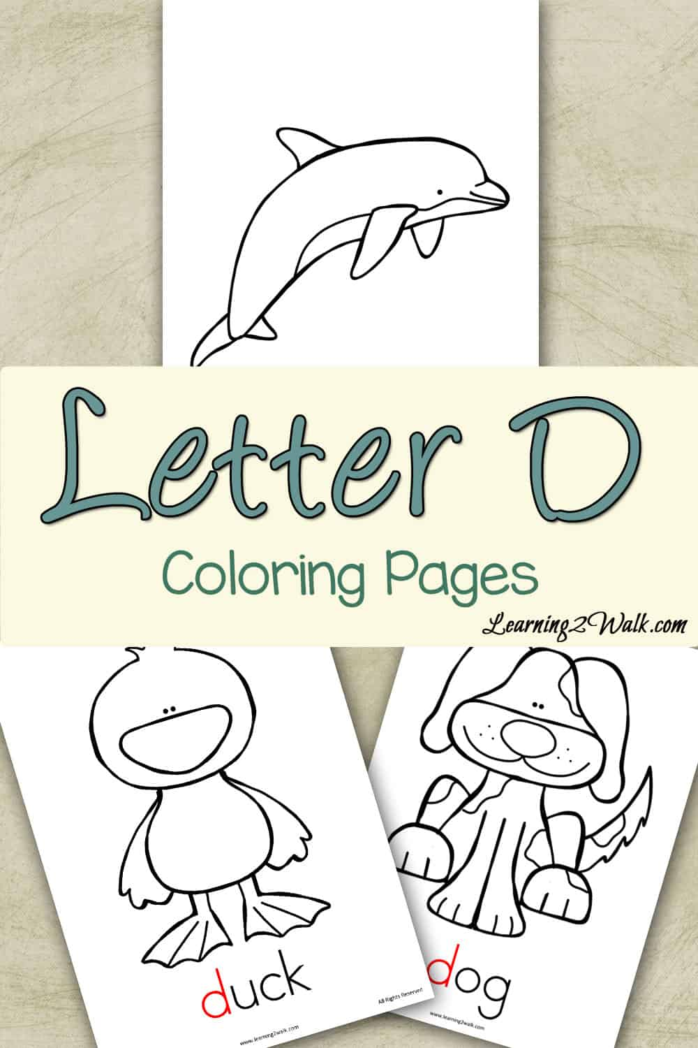 Preschool Letter Activities: Letter D Coloring Pages