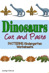 Here are some free hands on dinosaurs cut and paste kindergarten worksheets that your kids will love.