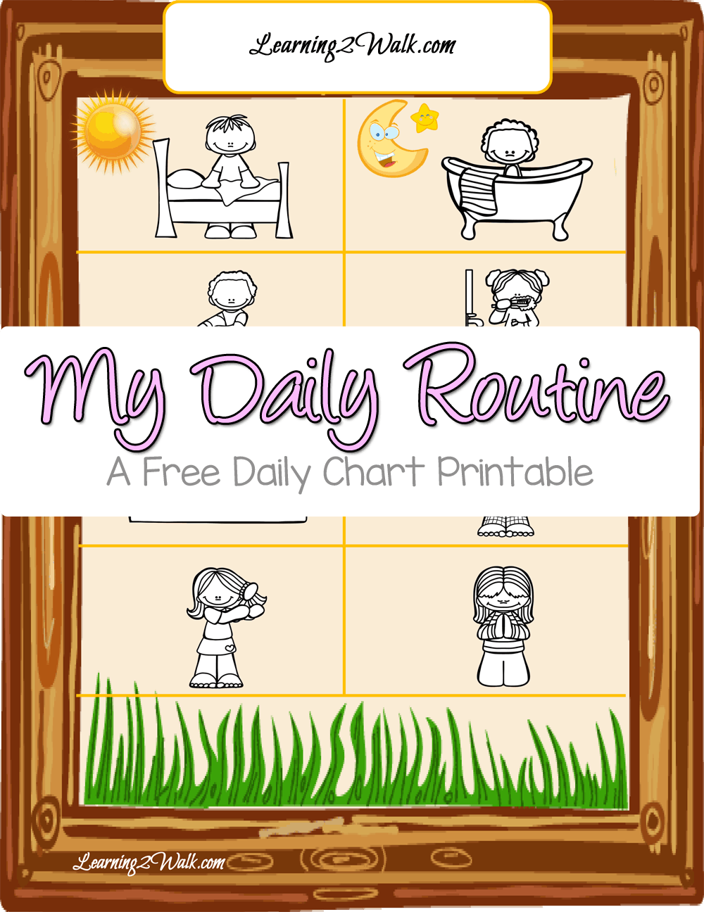 Wondering how to track your child's daily chores? Grab this free Daily routine for kids printable