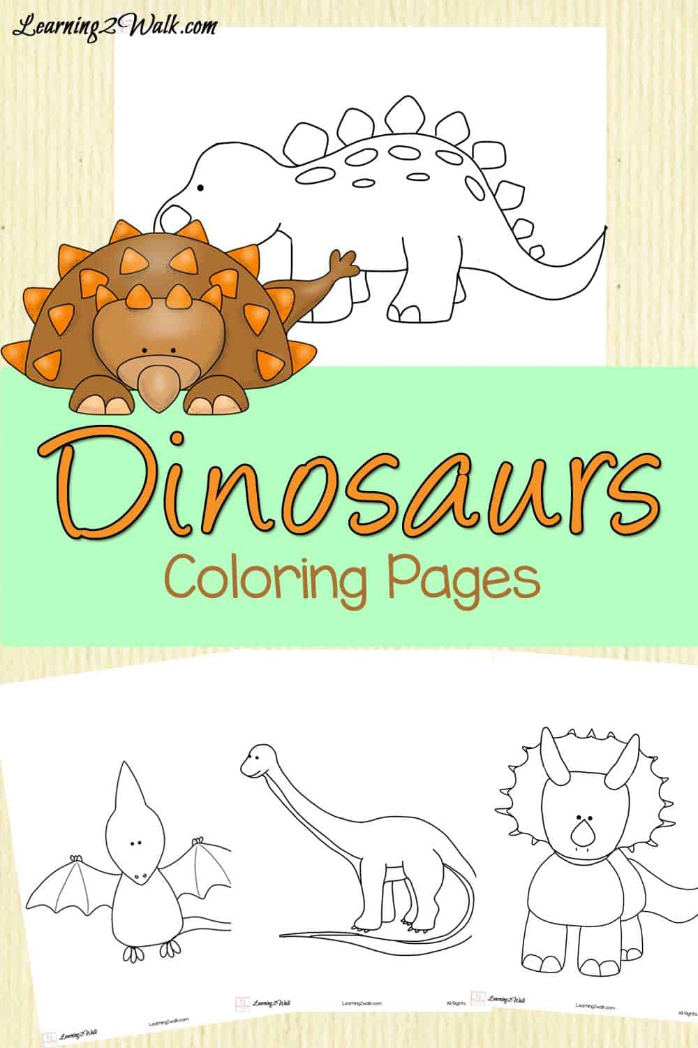 Dinosaurs Patterns Worksheets For Kindergarten
