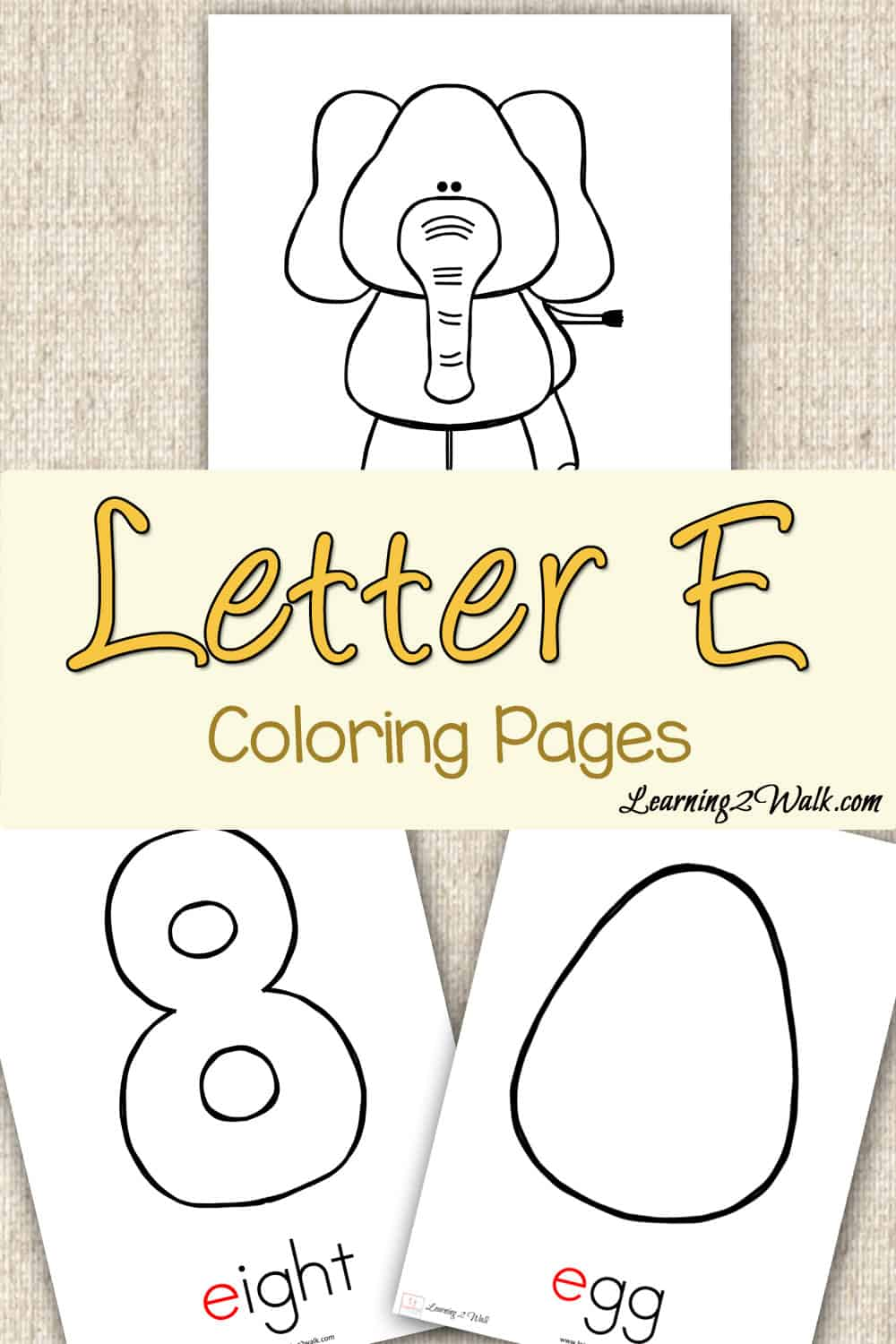 Preschool Letter Activities: Letter E Coloring Pages