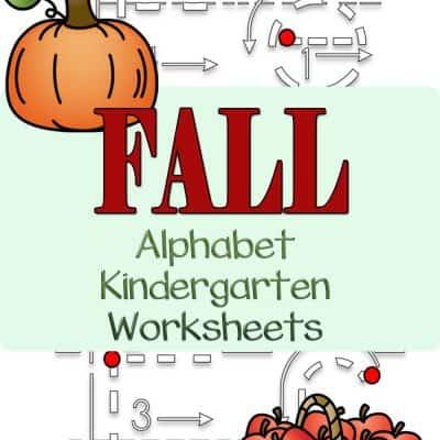 Fall Alphabet Kindergarten Worksheets