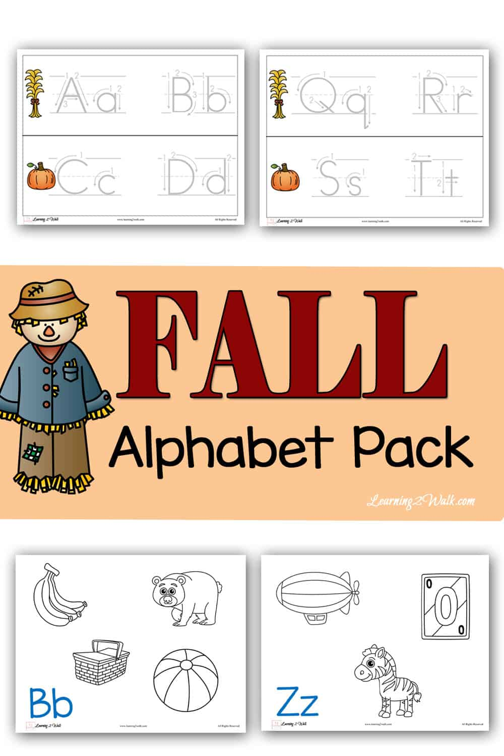 - Free Fall Alphabet Pack