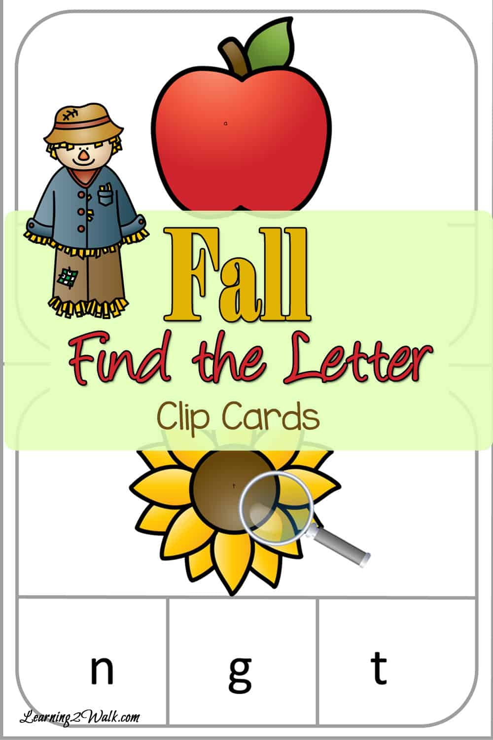 Preschool Letter Activities: Fall Find the Letter