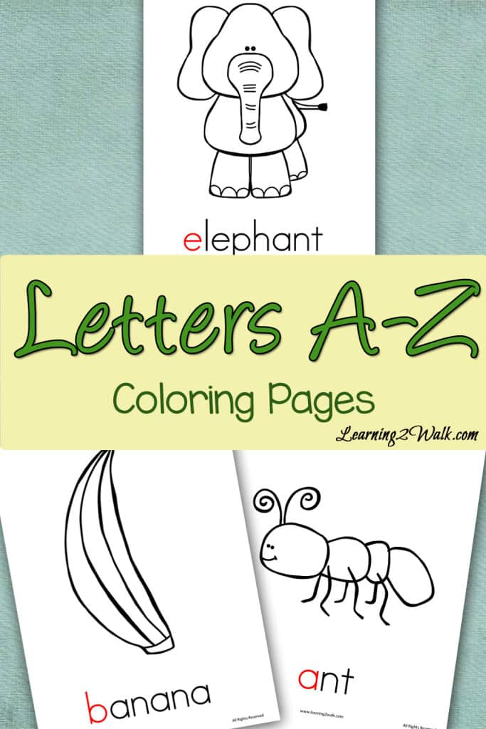 These alphabet coloring pages are perfect to help your kids with alphabet recognition as well as their fine motor skills.