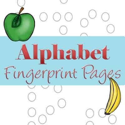 Preschool Letter Activities: Fingerprint Letter Pages