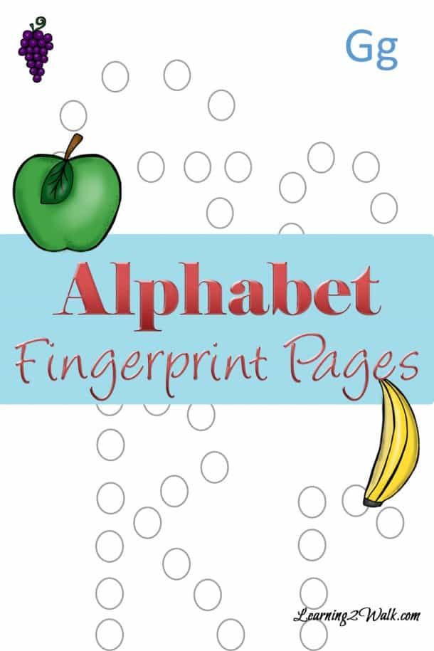 If you are looking for a few preschool letter activities to teach the alphabet, why not try these alphabet fingerprint pages?