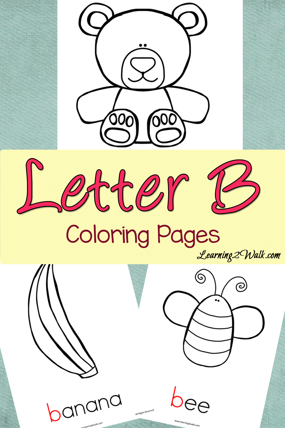 Preschool Letter Activities: Letter B Colouring Pages