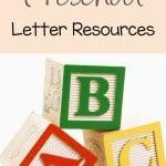 Preschool Letter Resources