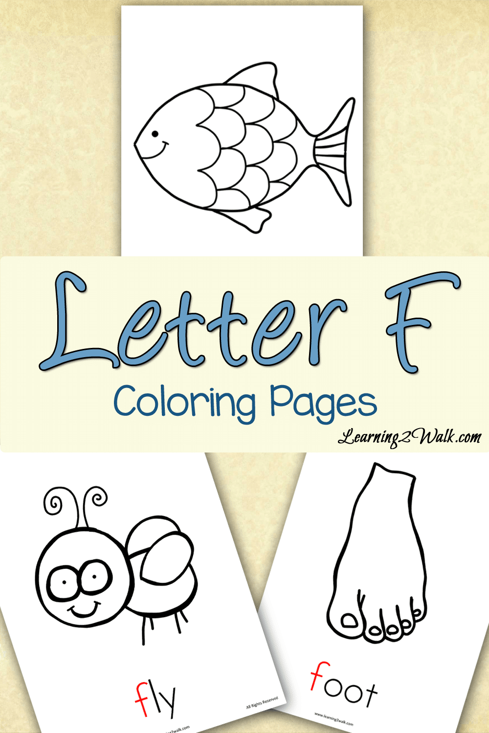 Preschool Letter Activities: Letter F Coloring Pages