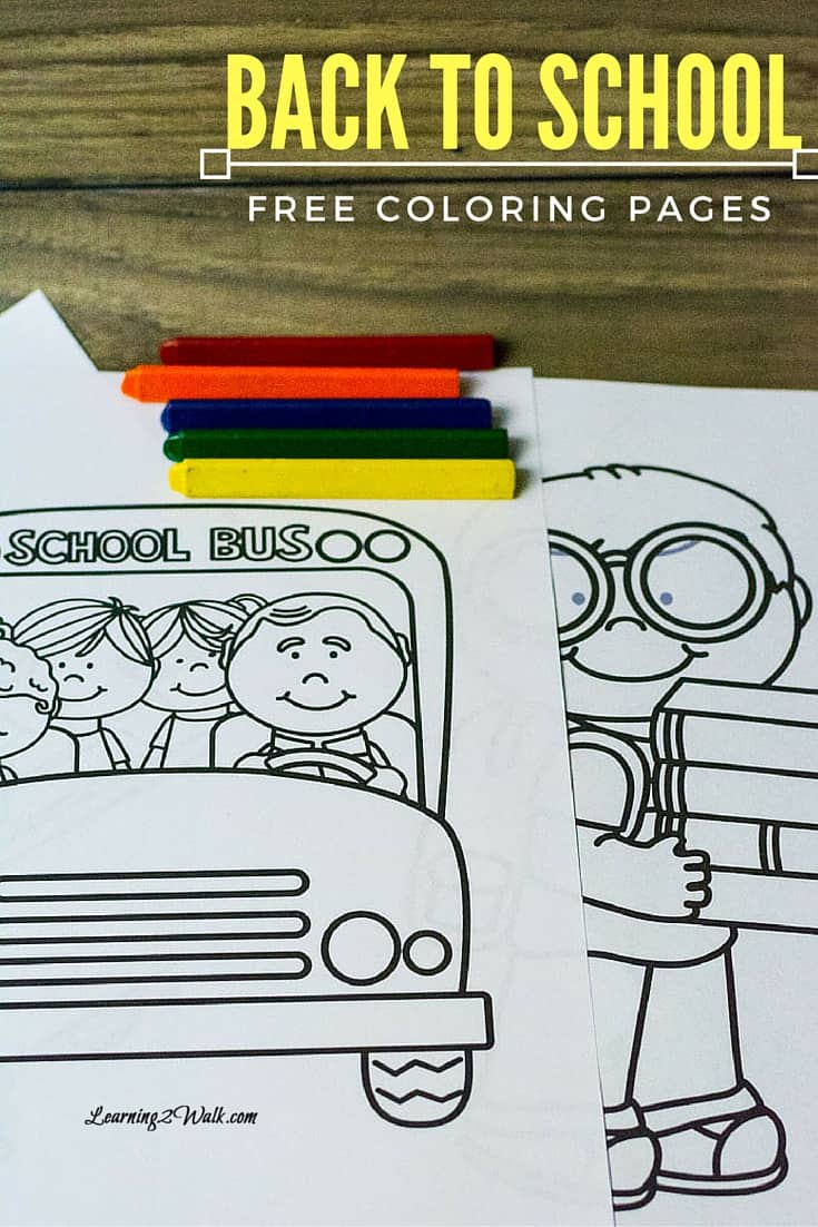 Back to School Free Coloring Page Set