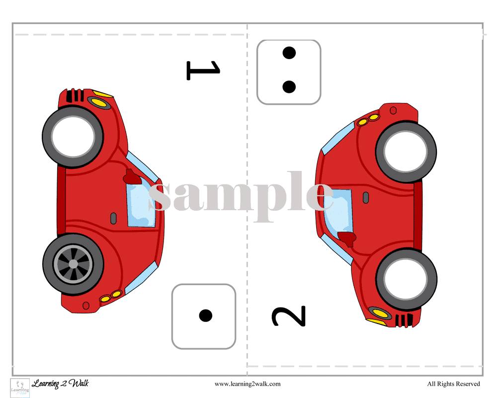 Working on the numbers 0-5? Why not make it a fun activity with this free counting cars preschool sticker book?