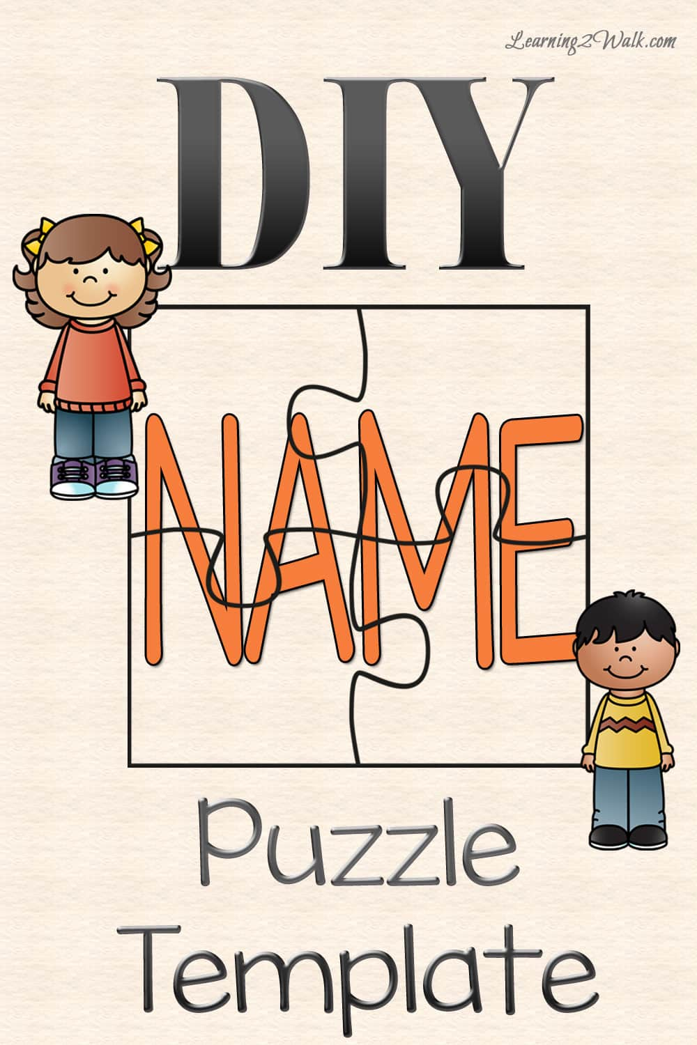 diy name puzzle template
