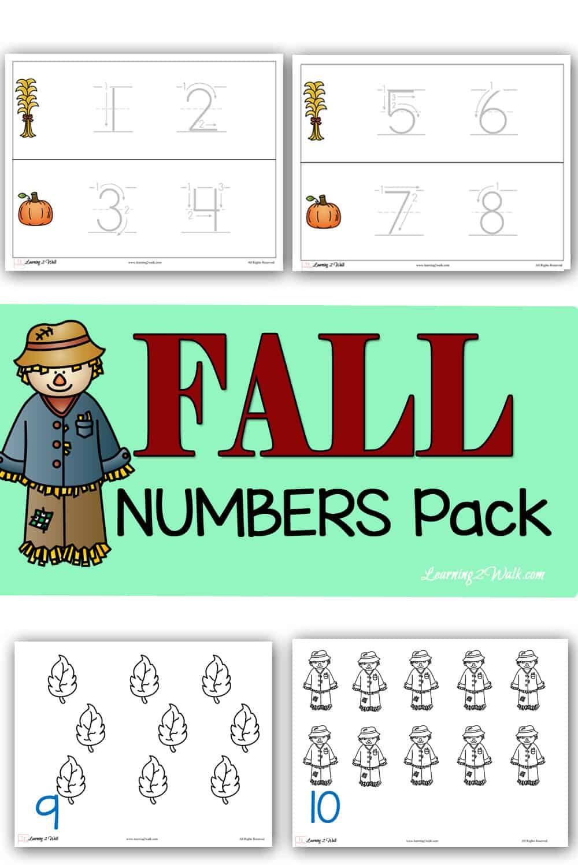 Fall Numbers Printable Pack