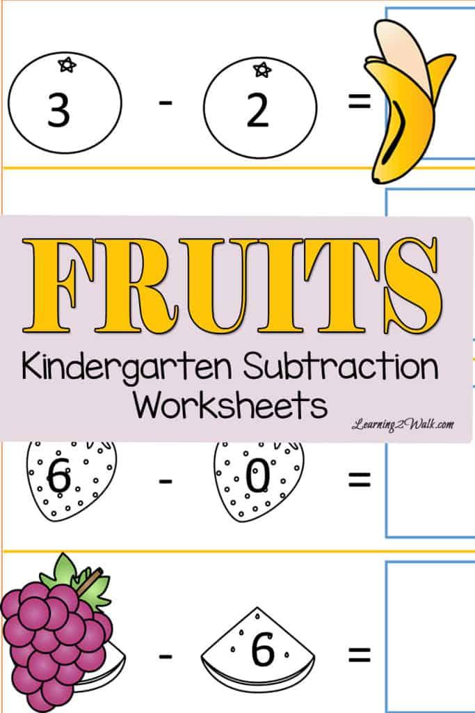 Subtraction Worksheets subtraction worksheets for kindergarten free : Beach Kindergarten Subtraction Worksheets