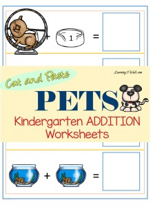 Why not use these free Pets Kindergarten Addition Worksheets to make your hands on math more fun?