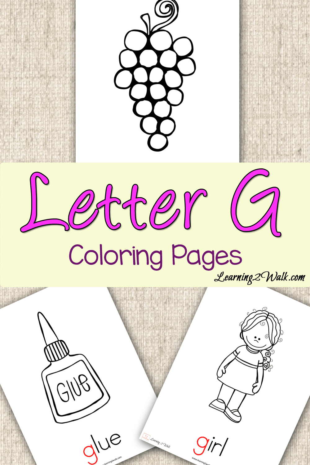 Preschool Letter Activities: Letter G Coloring Pages
