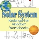 Does the solar system and alphabet worksheets go together? Of course they do! Here are our free solar system alphabet kindergarten worksheets