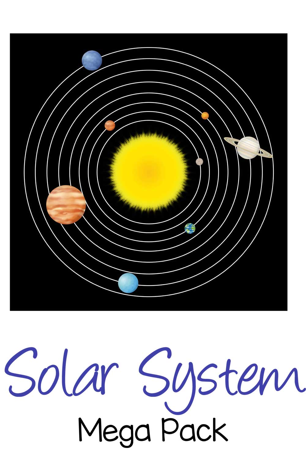 Enjoy this solar system mega pack that includes math activities and word work activities