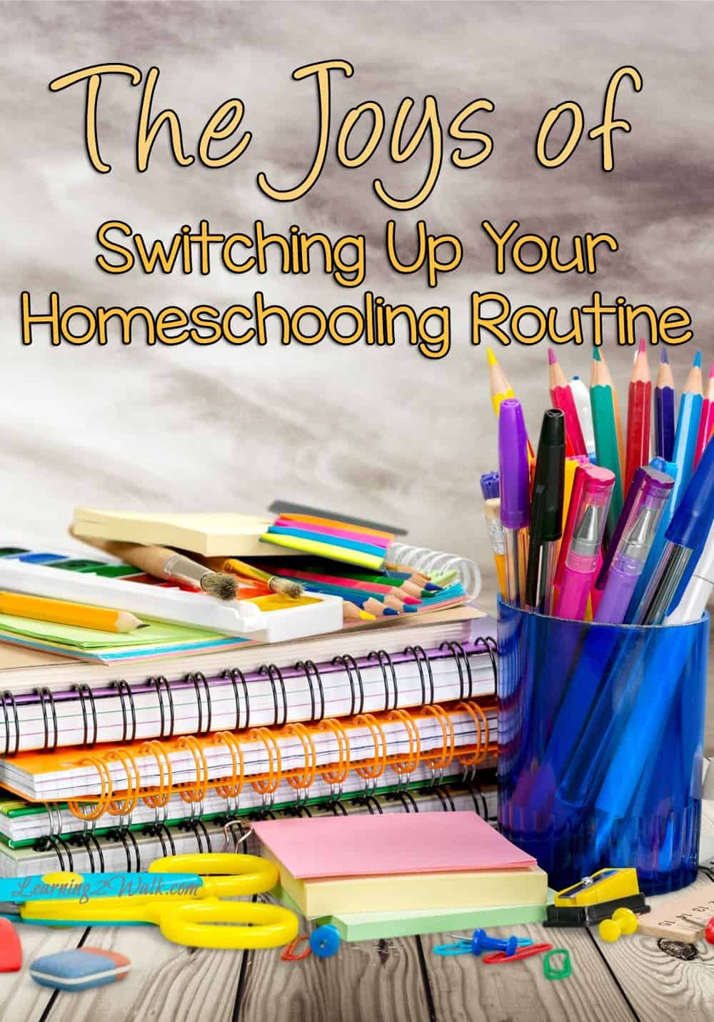 The Joys of switching up your homeschooling routine pin
