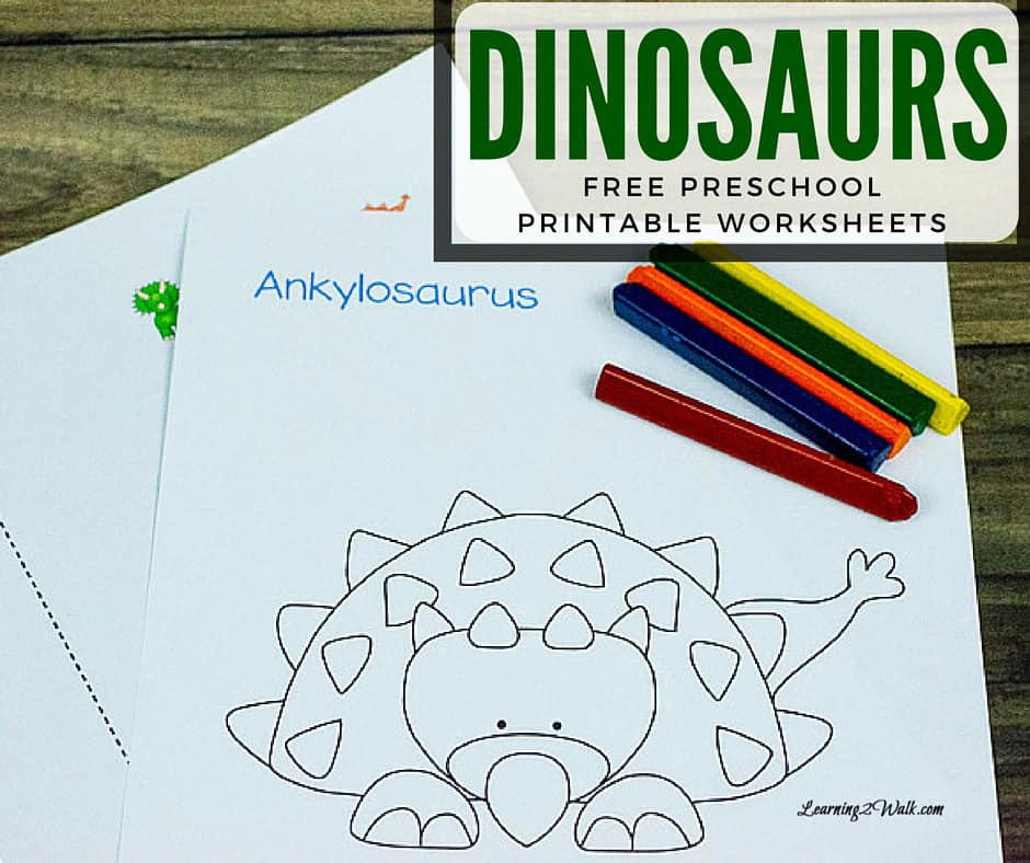 Dinosaurs Free Preschool Printable Worksheets