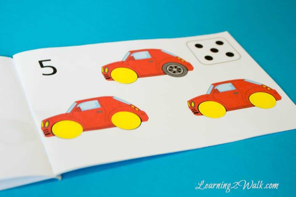 Working on the numbers 0-5 and fresh out of ideas of preschool activities? Why not make it a fun activity with this free counting cars preschool sticker book?