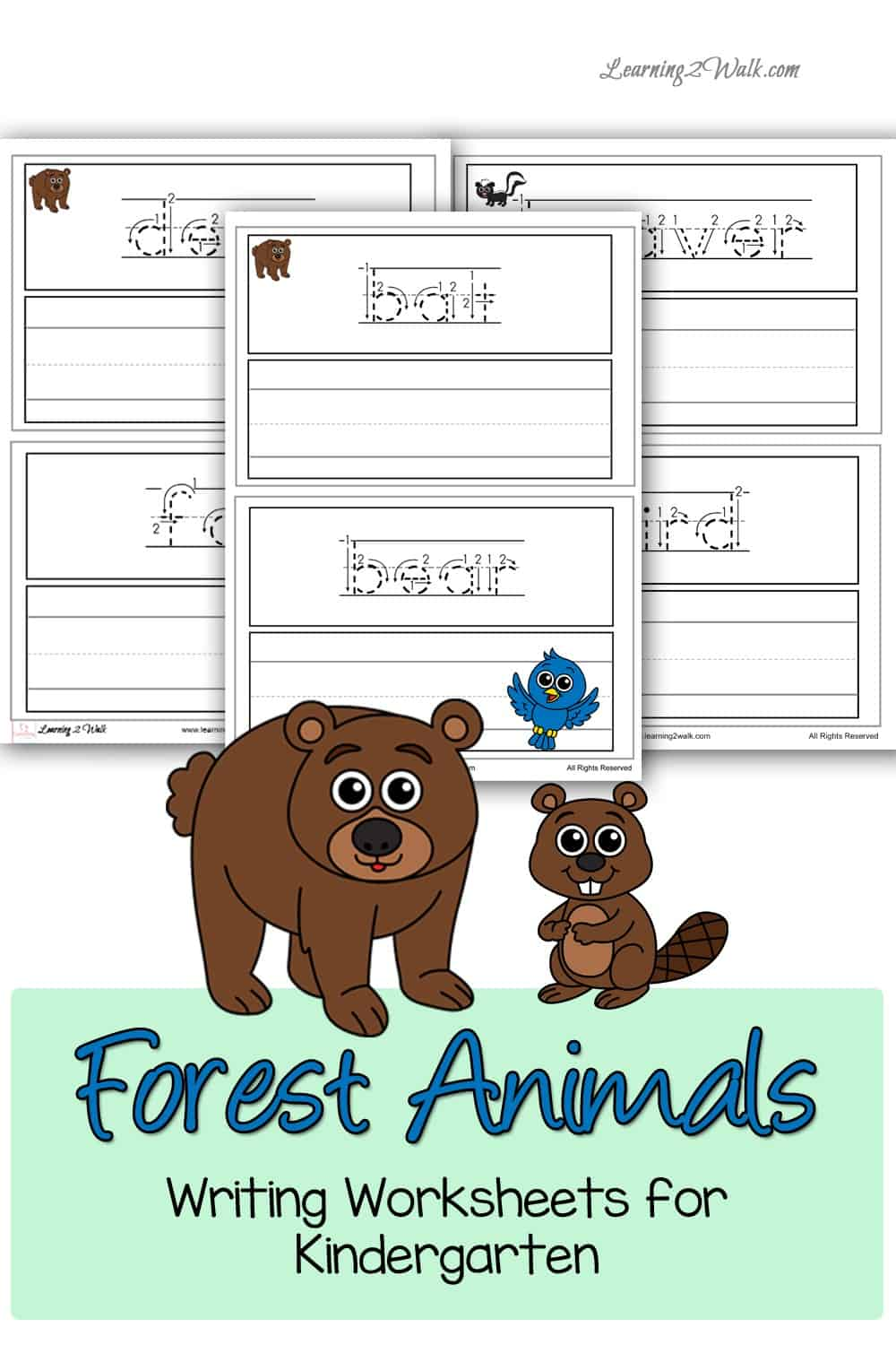 Working on increasing your student's forest animal vocabulary? Use these free forest animals writing worksheets for kindergarten to help.