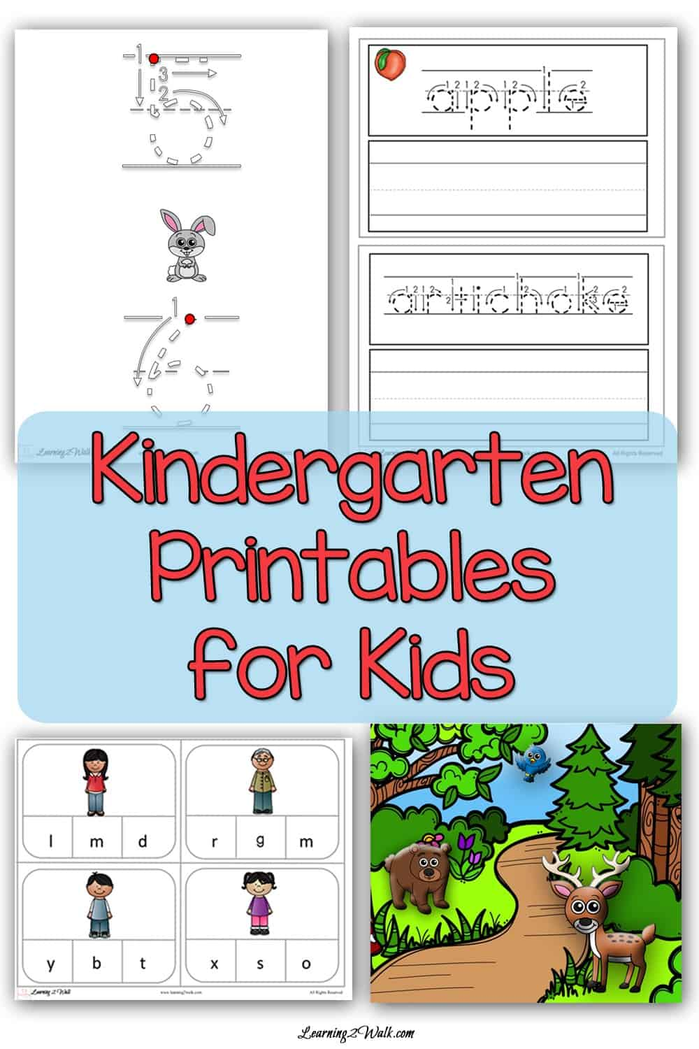Are you looking for kindergarten worksheets or a few kindergarten printables for kids? Here is our collection of all our kindergarten worksheets to date.