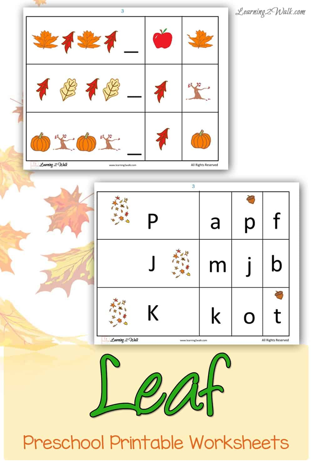 Dont you just love the leaves of fall? Use this free leaf preschool printable worksheets to make learning fun!