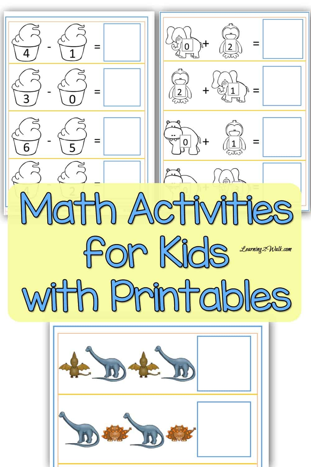 Looking for a few math activities for kids with printables? Perhaps a solar system kindergarten printable or maybe a my family pattern match preschool printable? Try some of these