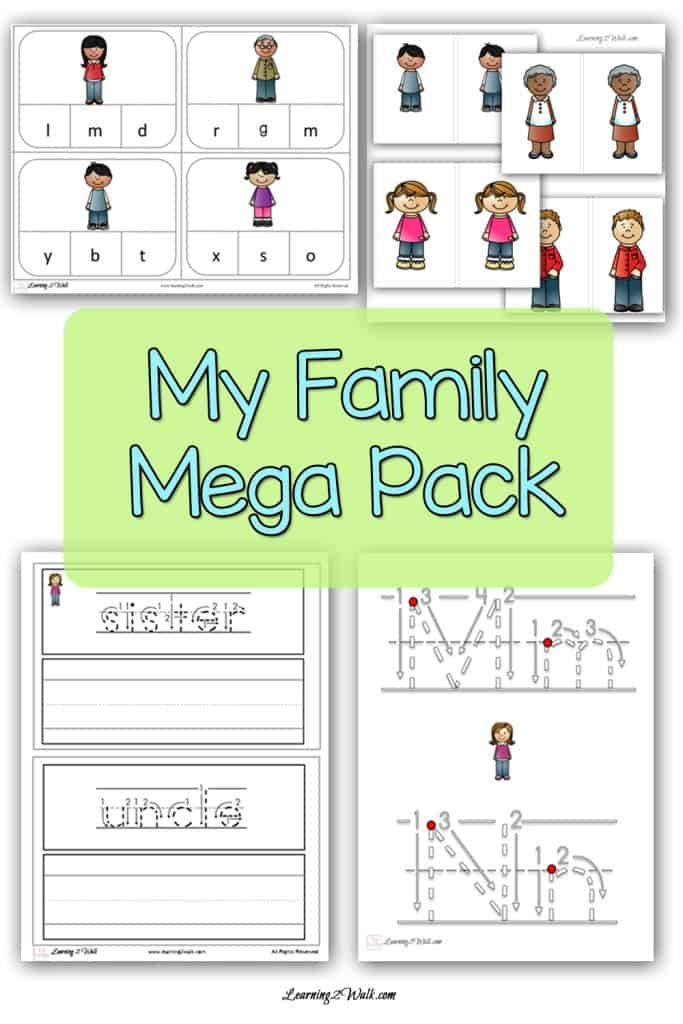 My Family Mega Pack preschool printable and kindergarten printable