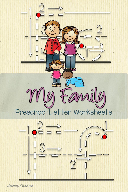 My Family Preschool Letter Worksheets