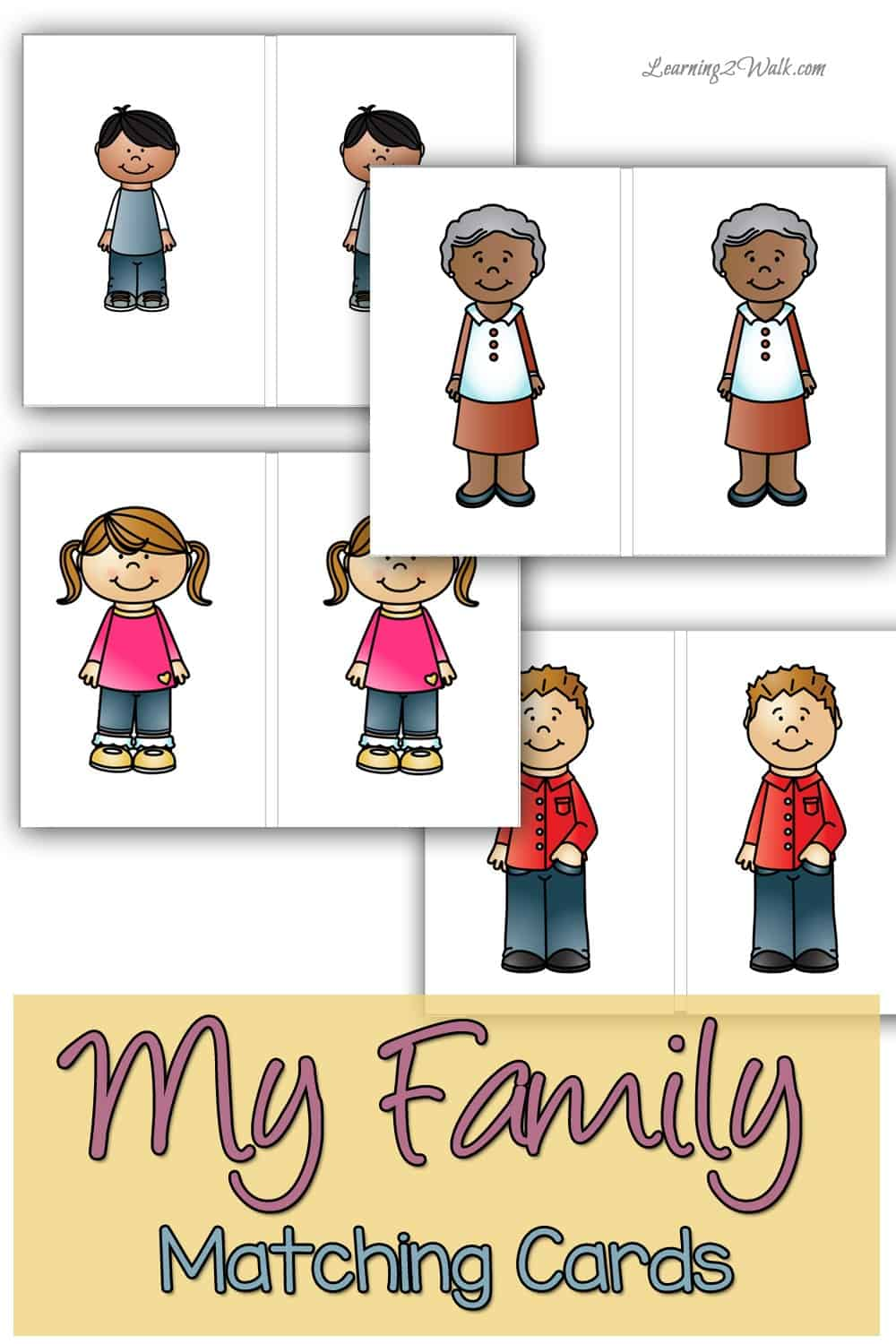 Are your kids working through the My Family Preschool Theme? If they are then you've got to try this fun My Family Preschool Theme Free Printable- its a matching game! #myfamilypreschooltheme #freepreschoolprintable #myfamilytheme