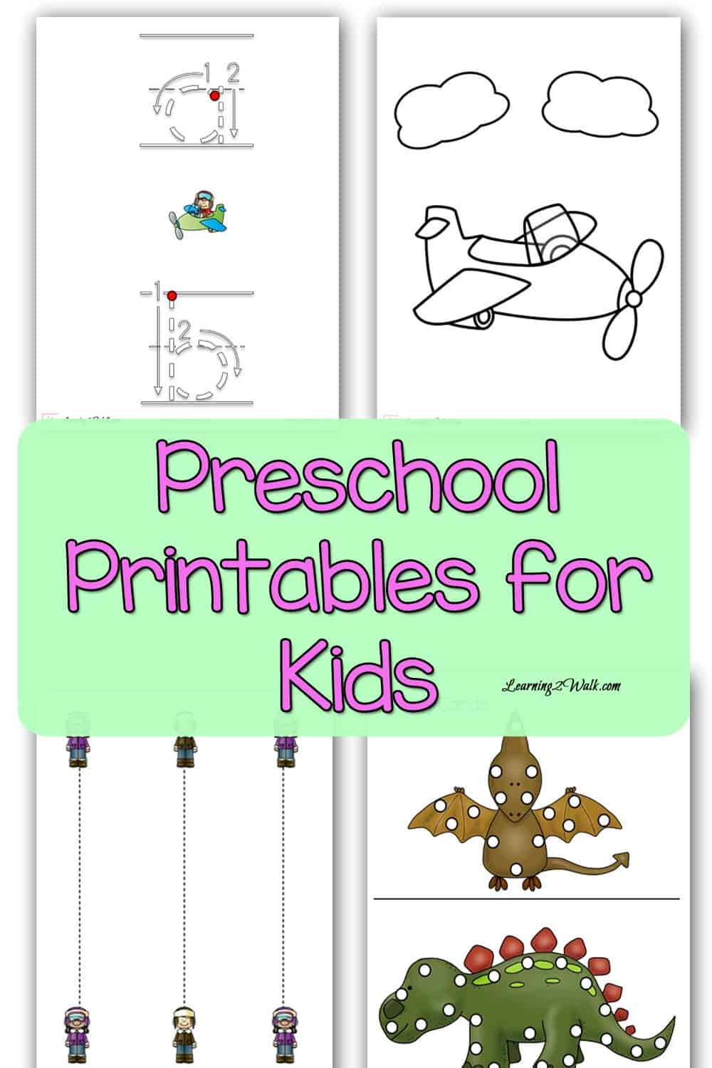 Looking for a few preschool printables for kids or your class? Why not choose one from this collection?
